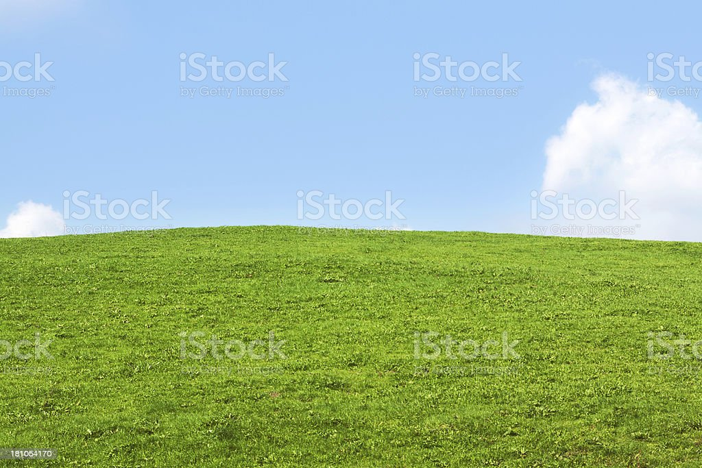 Horizon over hill and meadow royalty-free stock photo