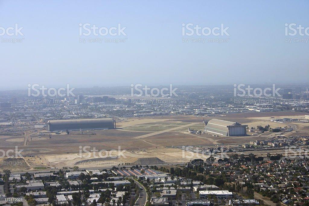 Horizon over land stock photo
