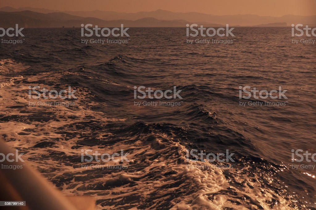 Horizon over sea stock photo