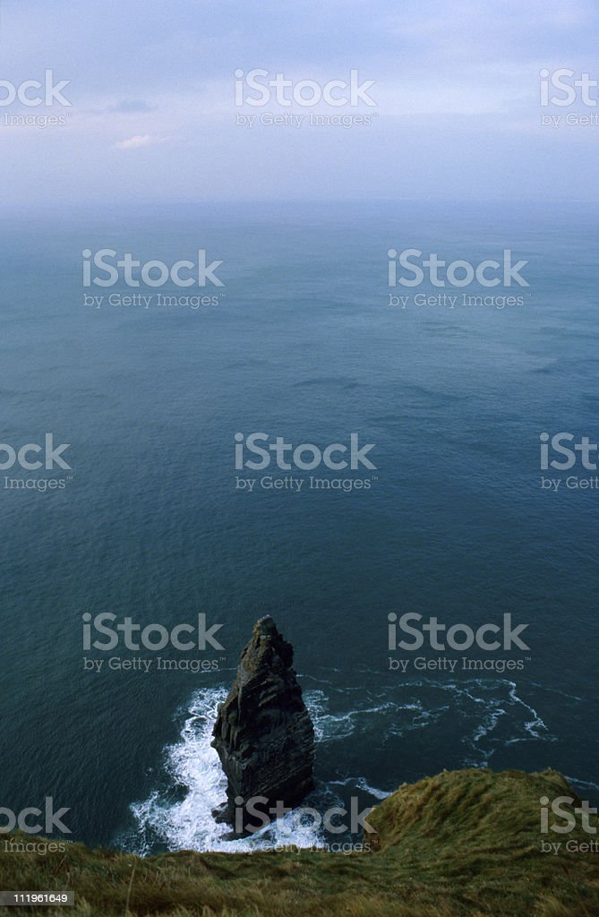 horizon over water at the Cliffs of Moher royalty-free stock photo