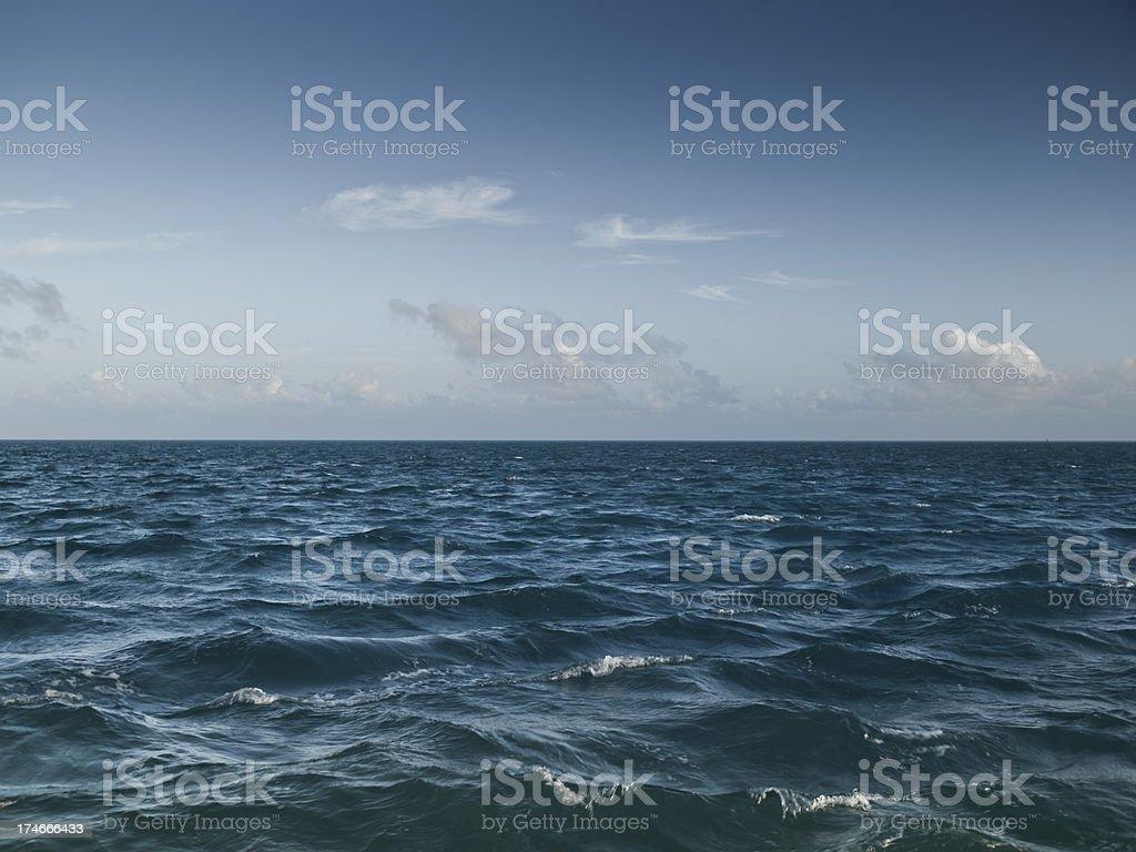 Horizon over water stock photo