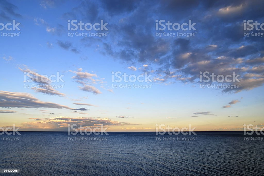 Horizon over Water stock photo