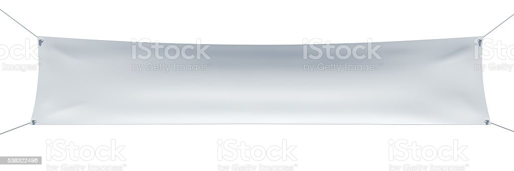 Horizontal banner with ropes stock photo