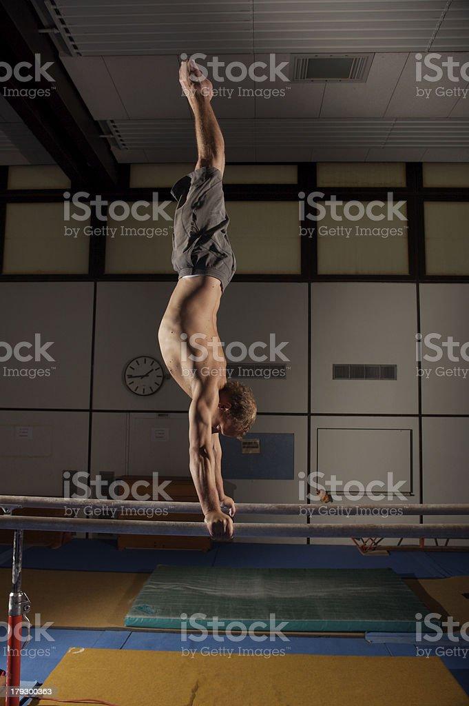 Horizontal bar exercises stock photo