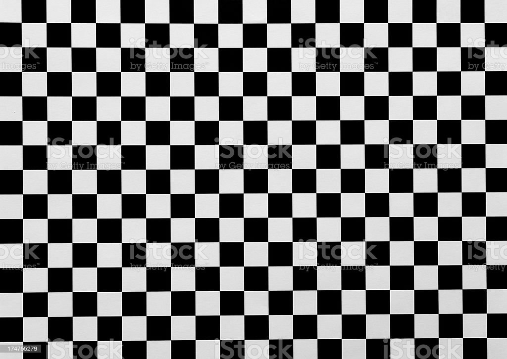 Horizontal black and white checked paper background royalty-free stock photo