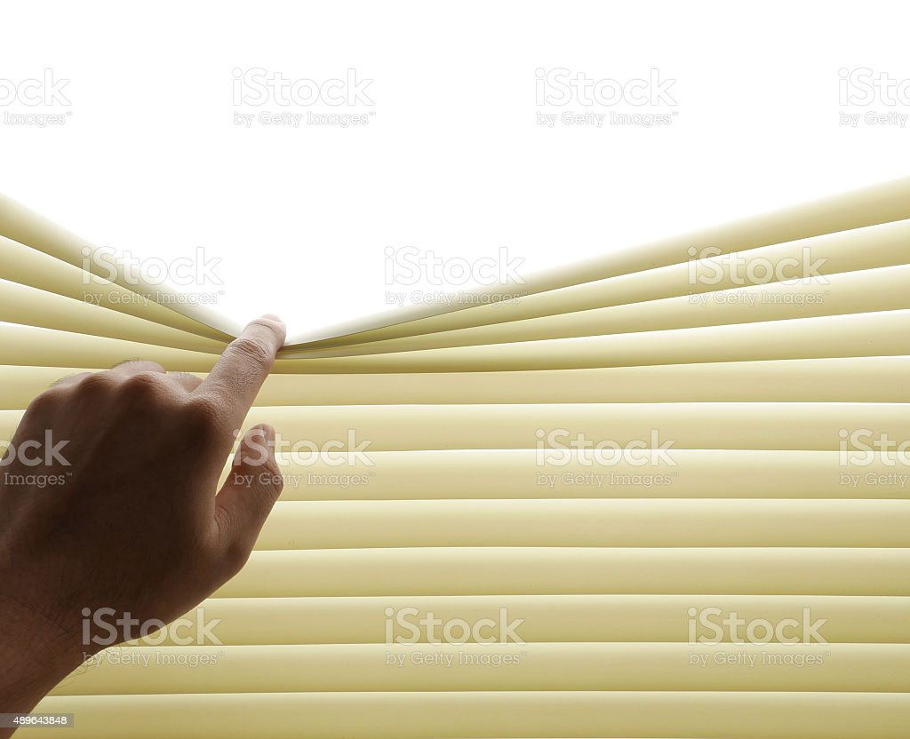 Horizontal blinds stock photo