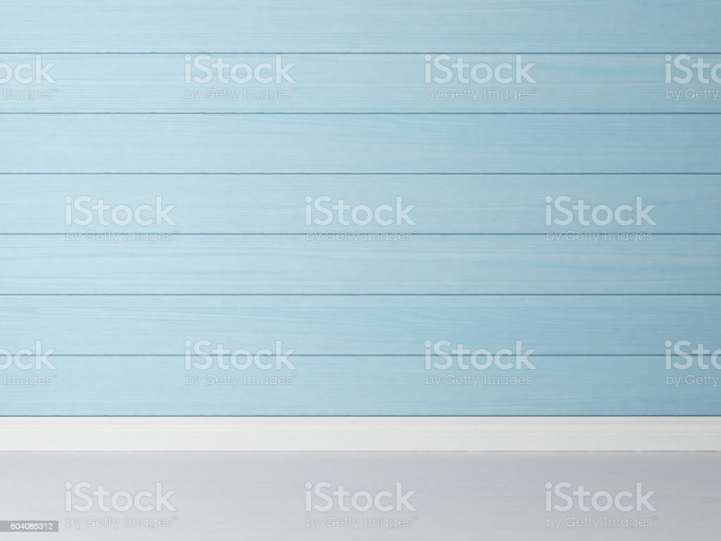 horizontal blue wooden wall background stock photo