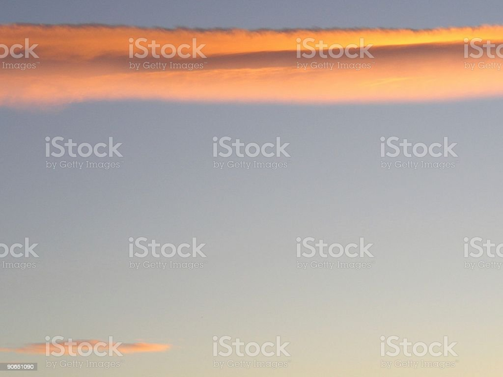 horizontal clouds royalty-free stock photo