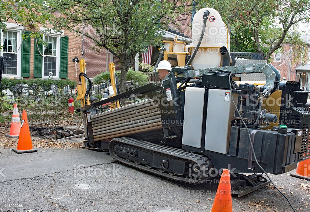 Horizontal Directional Drill in Use stock photo