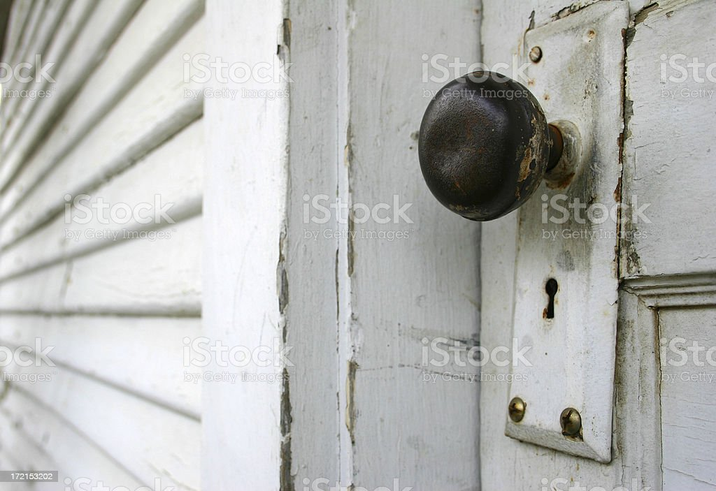 Horizontal Doorknob royalty-free stock photo