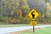 Horizontal Elk Crossing Traffic Sign