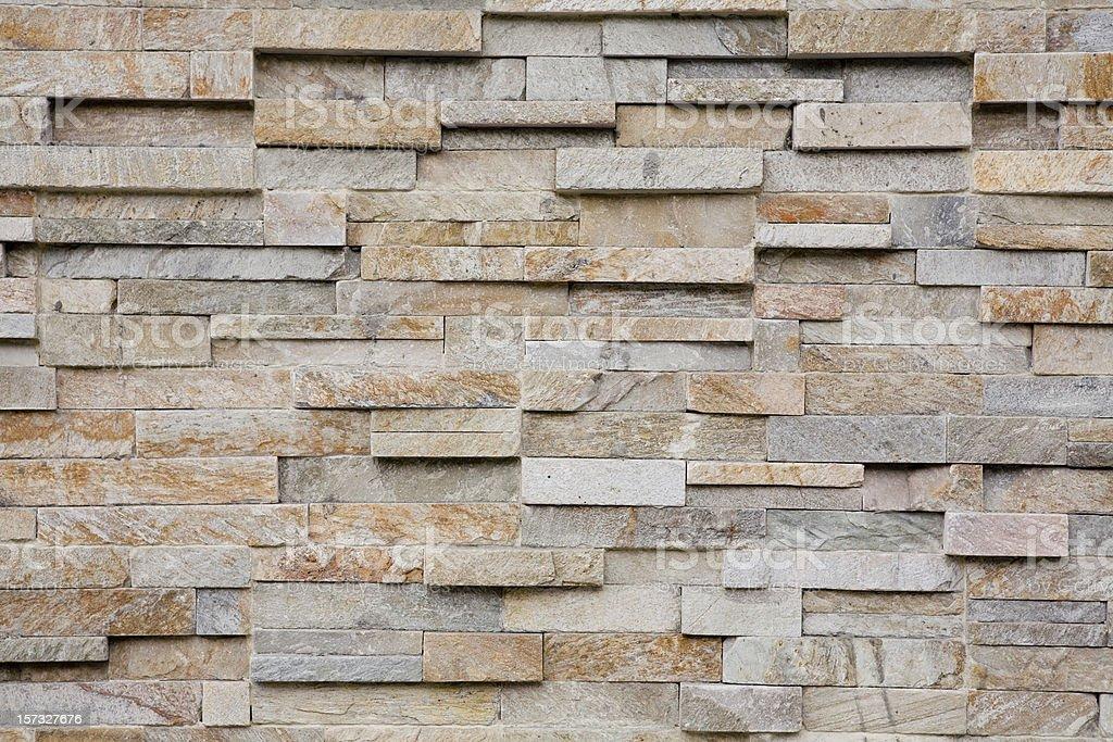 Horizontal flat stacked slate bricks royalty-free stock photo
