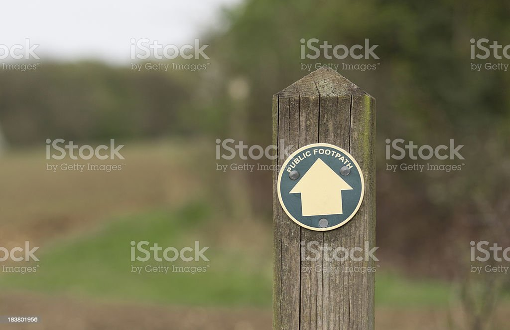 Horizontal Footpath Sign royalty-free stock photo