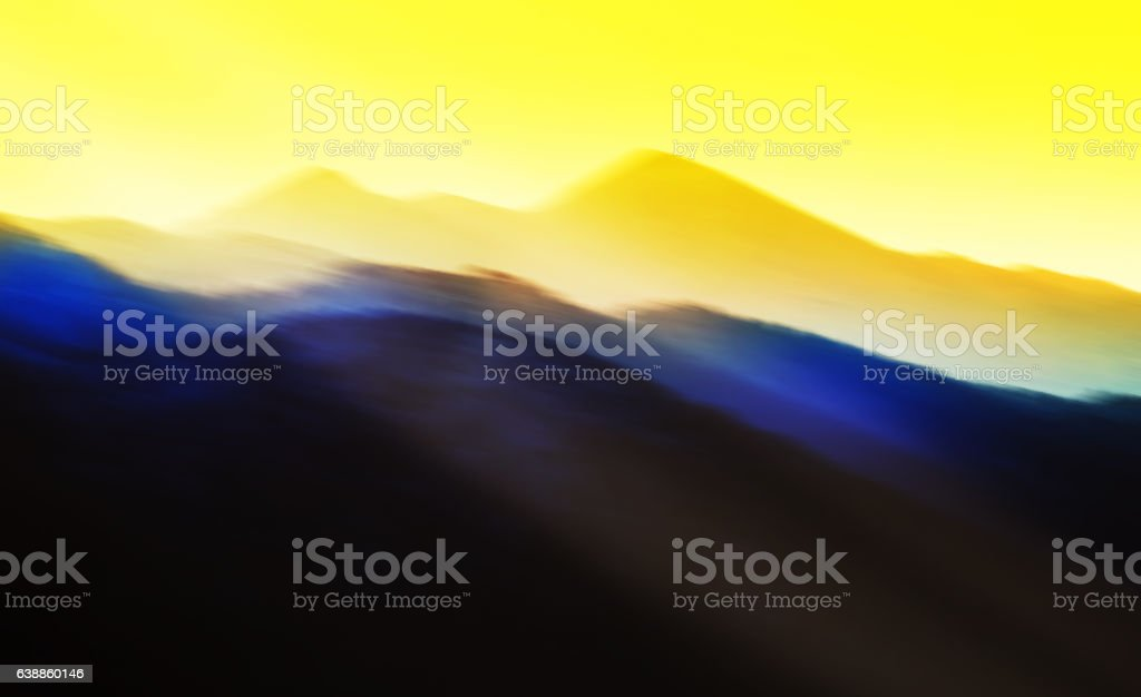 Horizontal gorgeous abstract sunset painting stock photo
