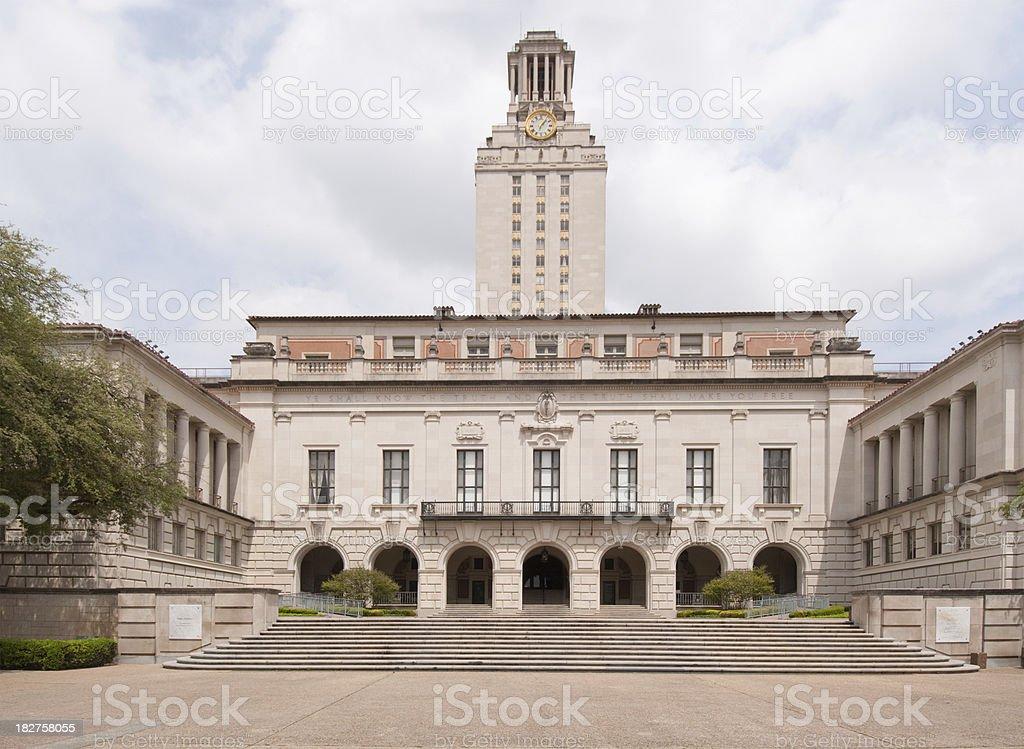 Horizontal image University of Texas at Austin clock tower stock photo