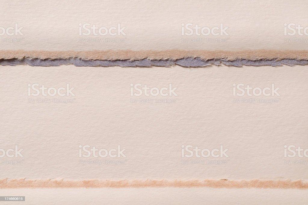 Horizontal layered handmade paper royalty-free stock photo