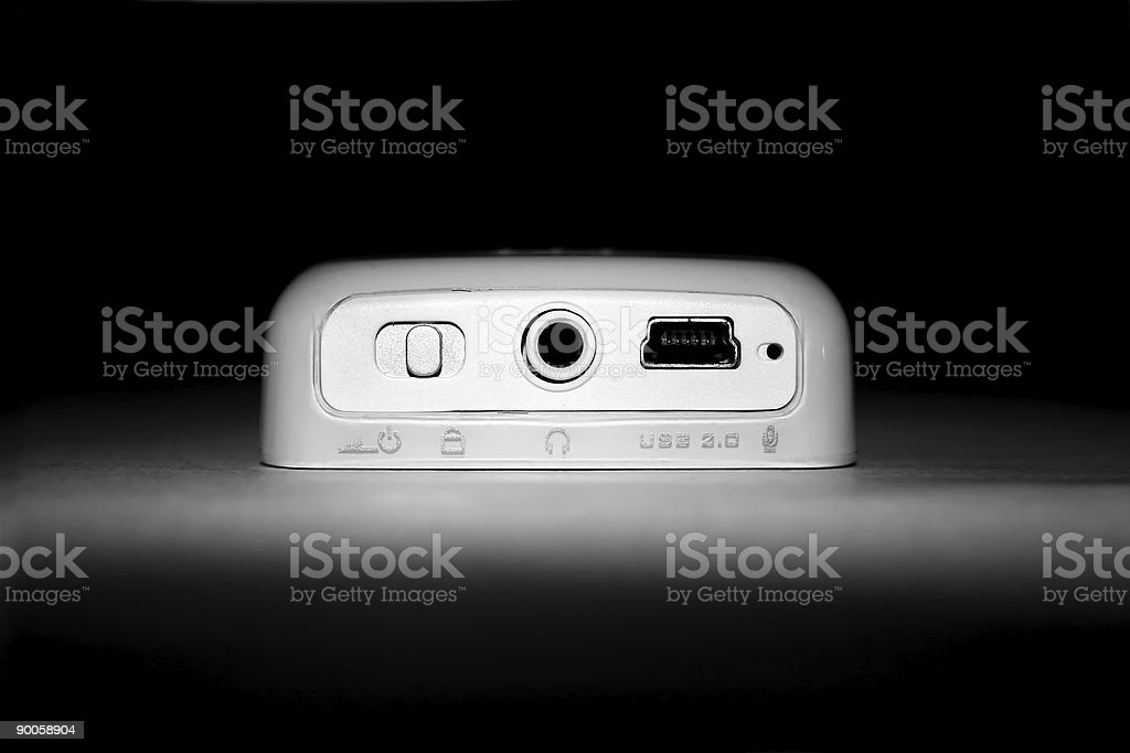 Horizontal MP3 Player royalty-free stock photo