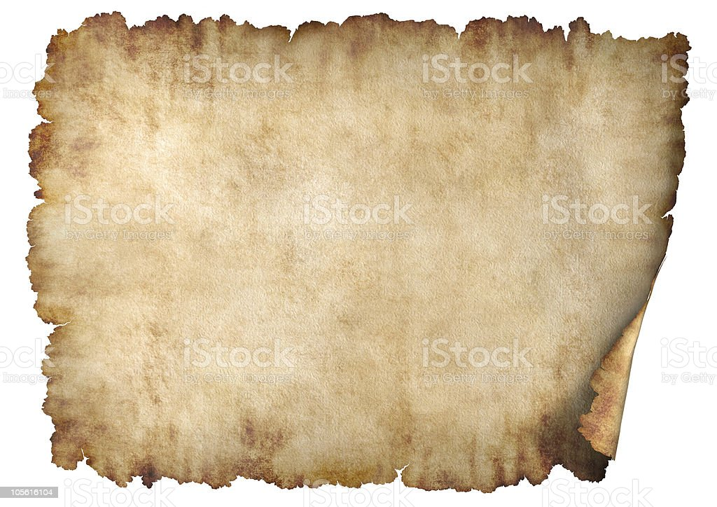 Horizontal parchment paper texture background stock photo
