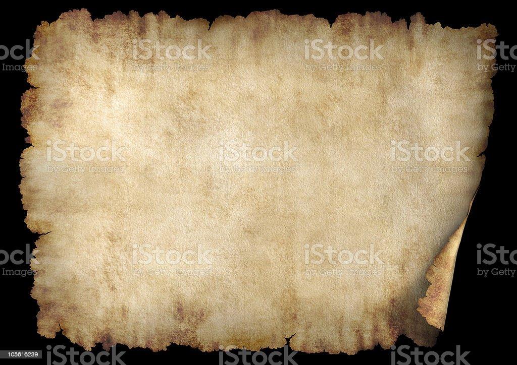 Horizontal parchment paper texture background stock photo