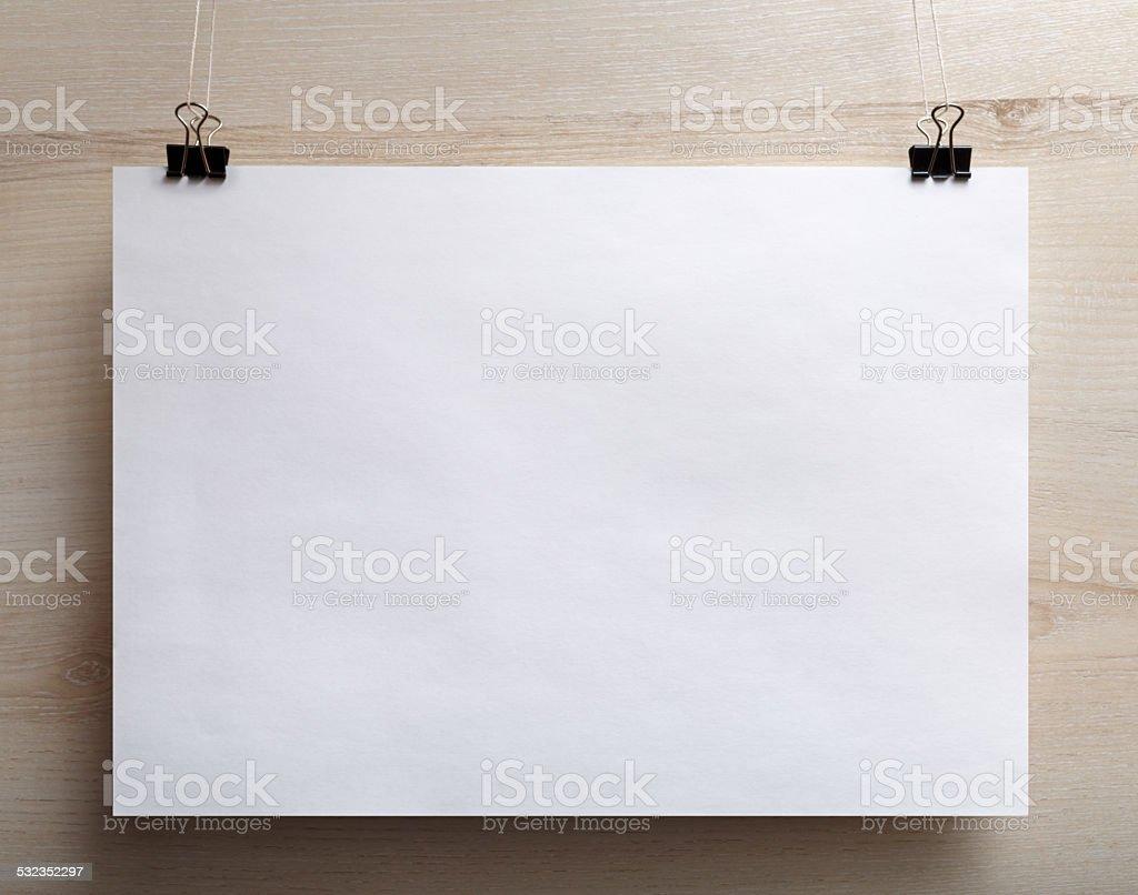 Horizontal poster stock photo