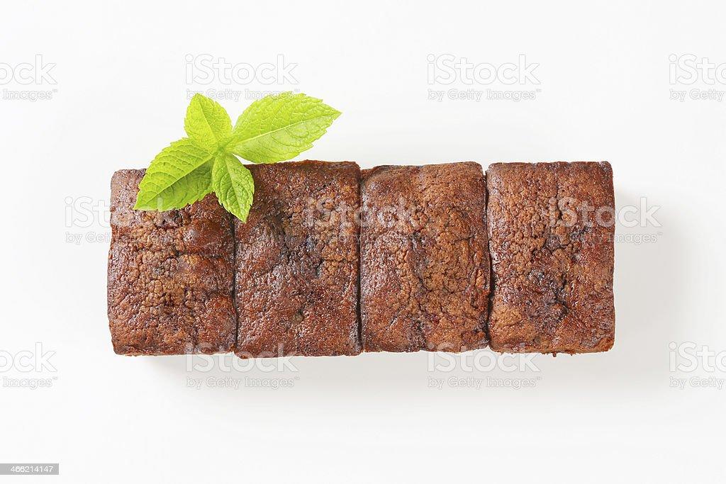 Horizontal raw of mini brownies royalty-free stock photo
