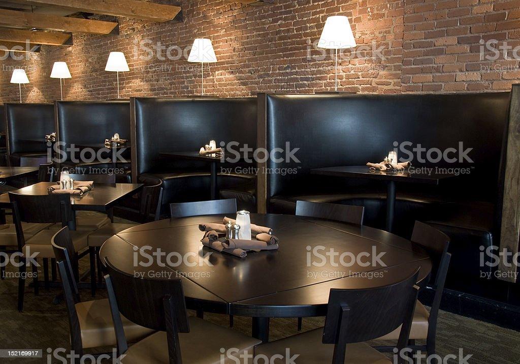 Horizontal restaurant interior stock photo