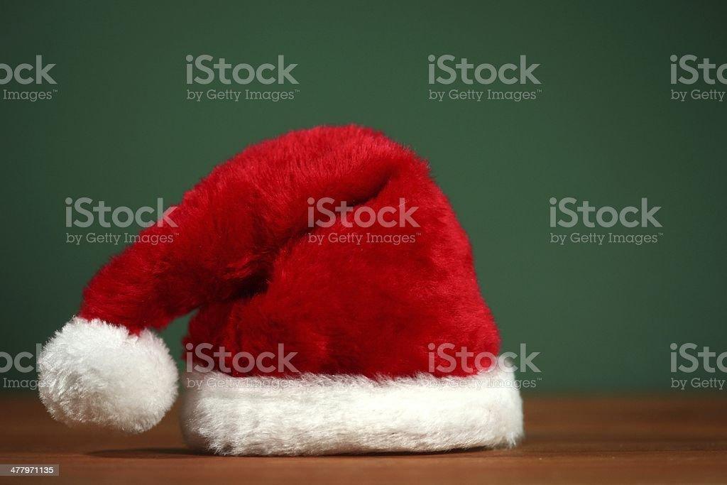 Horizontal Santa Hat With Copy Space royalty-free stock photo