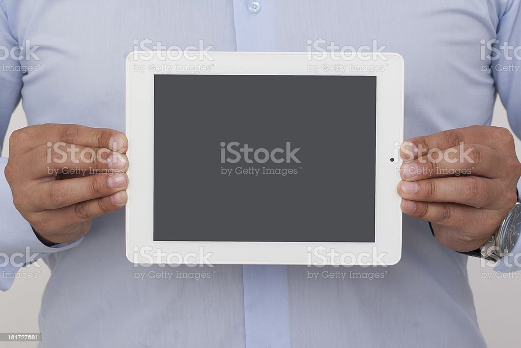 horizontal showing screen of a digital tablet royalty-free stock photo