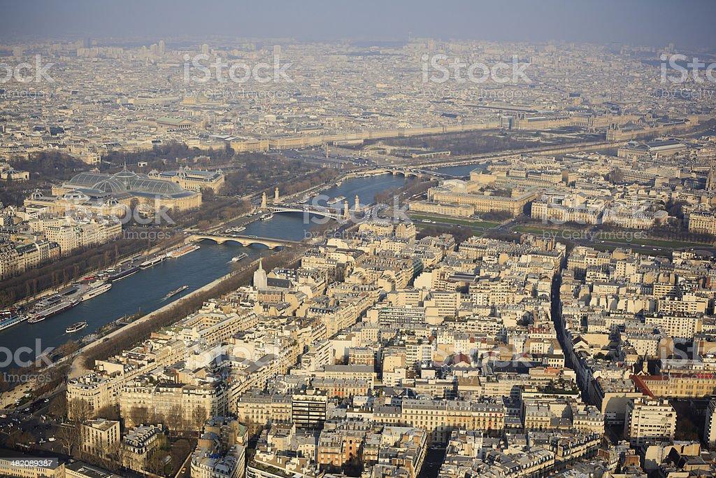 Horizontal Skyline of Paris royalty-free stock photo