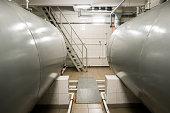 Horizontal storage tanks.