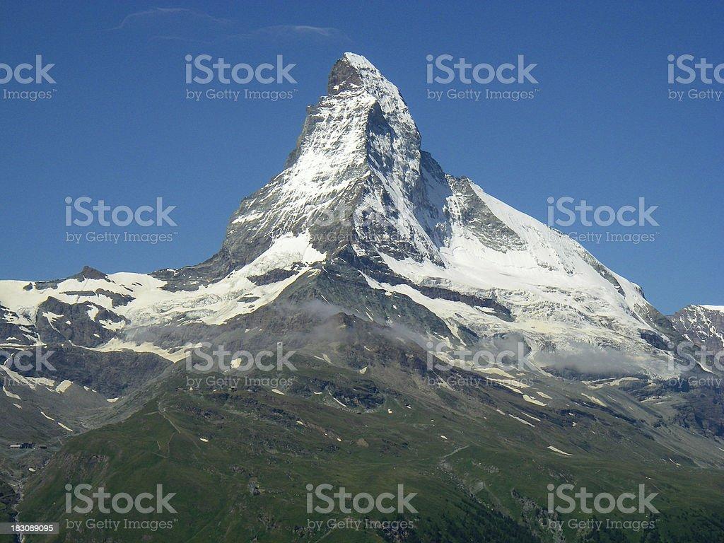 Horizontal view Matterhorn Peak Swiss Alps Zermatt Switzerland stock photo