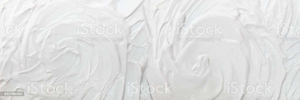 horizontal white cream texture for pattern and background stock photo