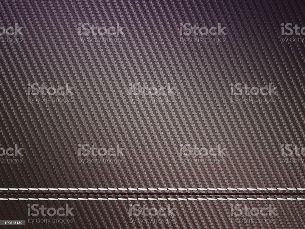 Horizontally Stitched carbon fibre royalty-free stock photo