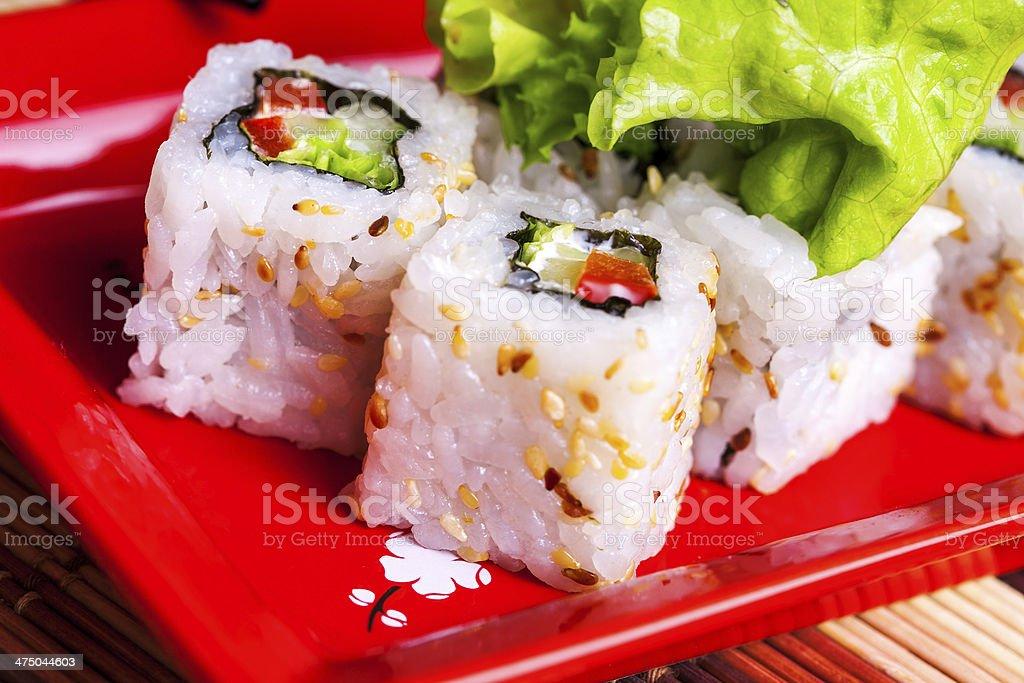 Horizotnal photo of vegitable roll stock photo