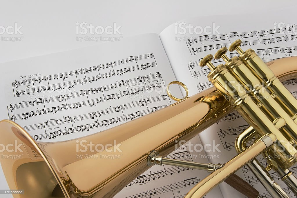 Horn and Music stock photo