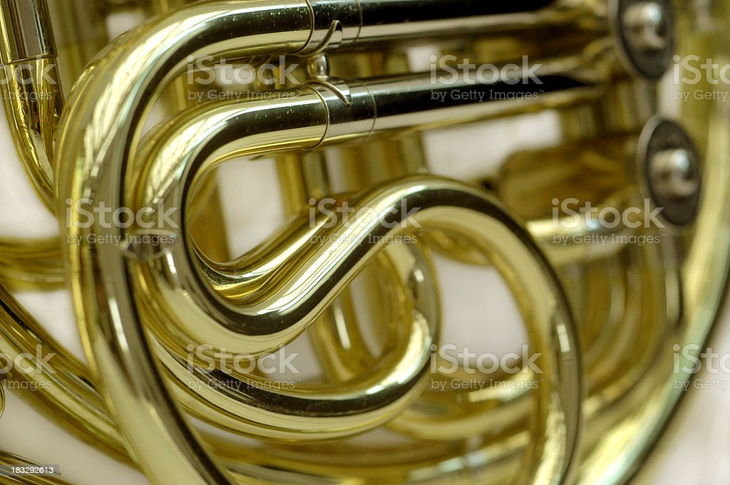 horn brass stock photo