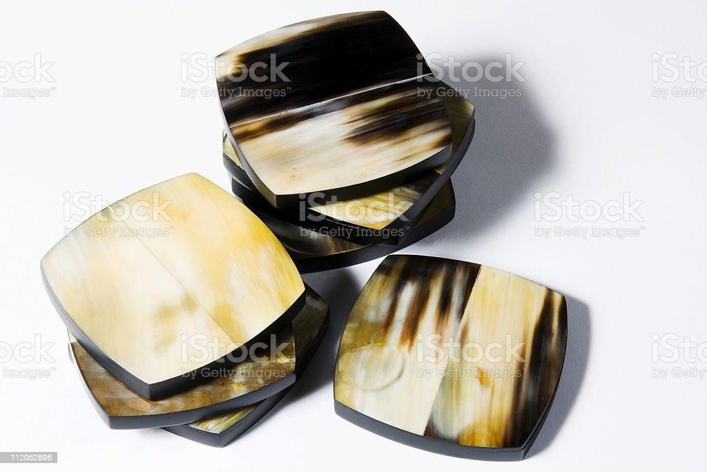 Horn Coasters royalty-free stock photo