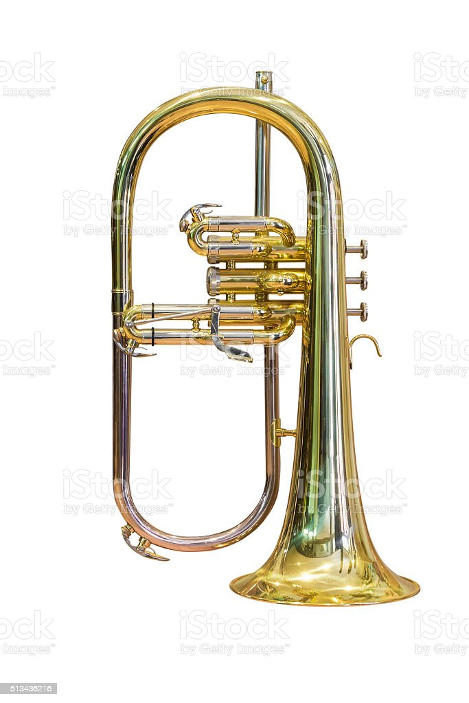 horn isolated on white background stock photo