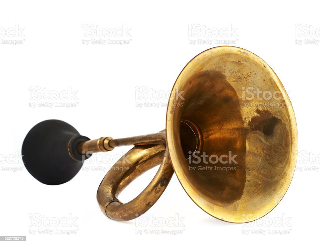 Horn klaxon instrument isolated stock photo
