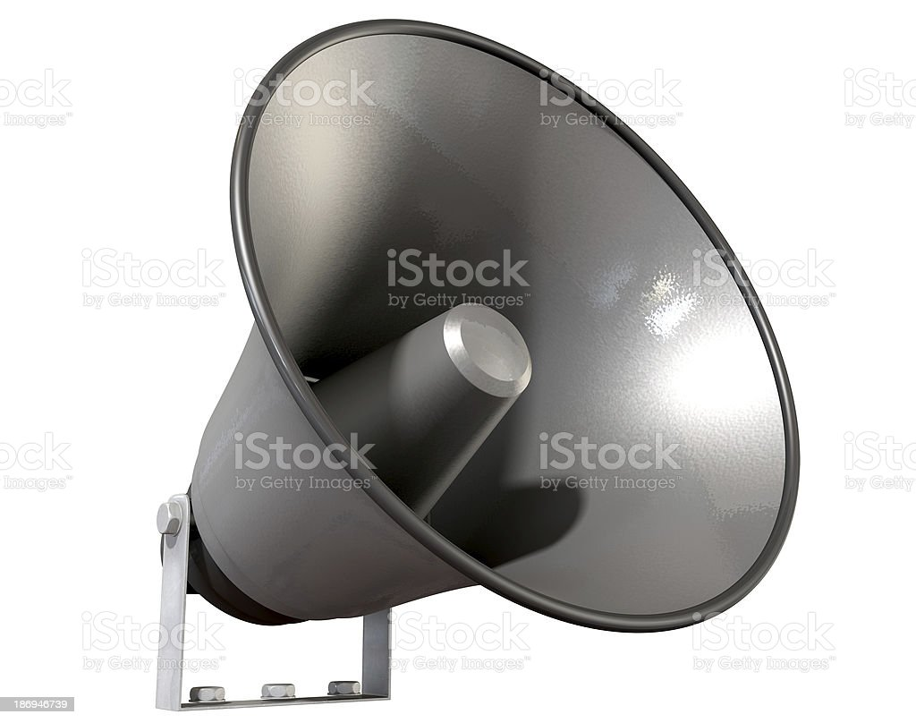Horn Loudspeaker Perspective royalty-free stock photo