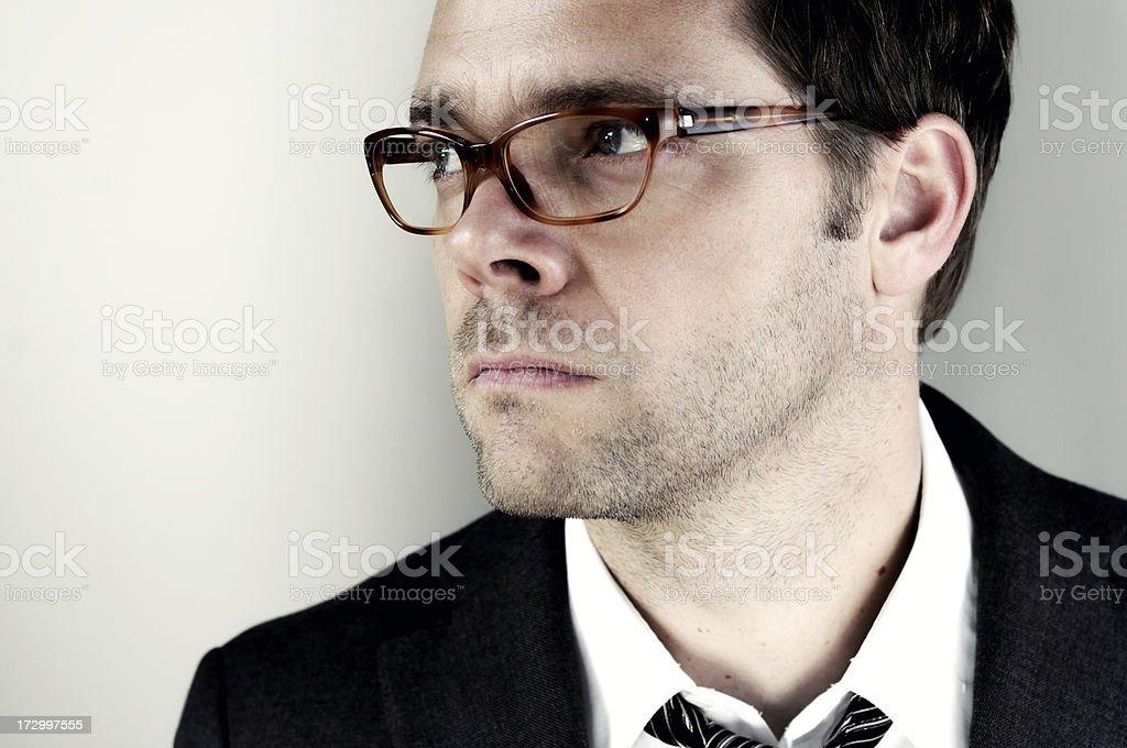 horn rimmed glasses man royalty-free stock photo