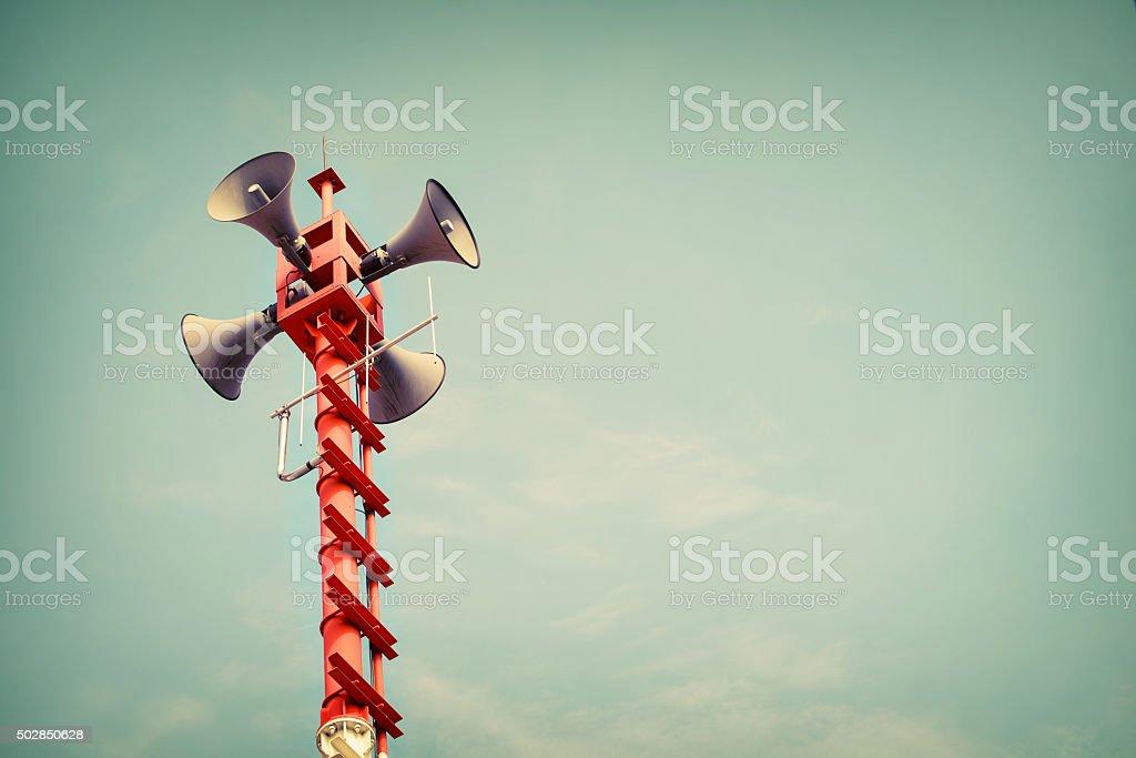 Horn speaker stock photo