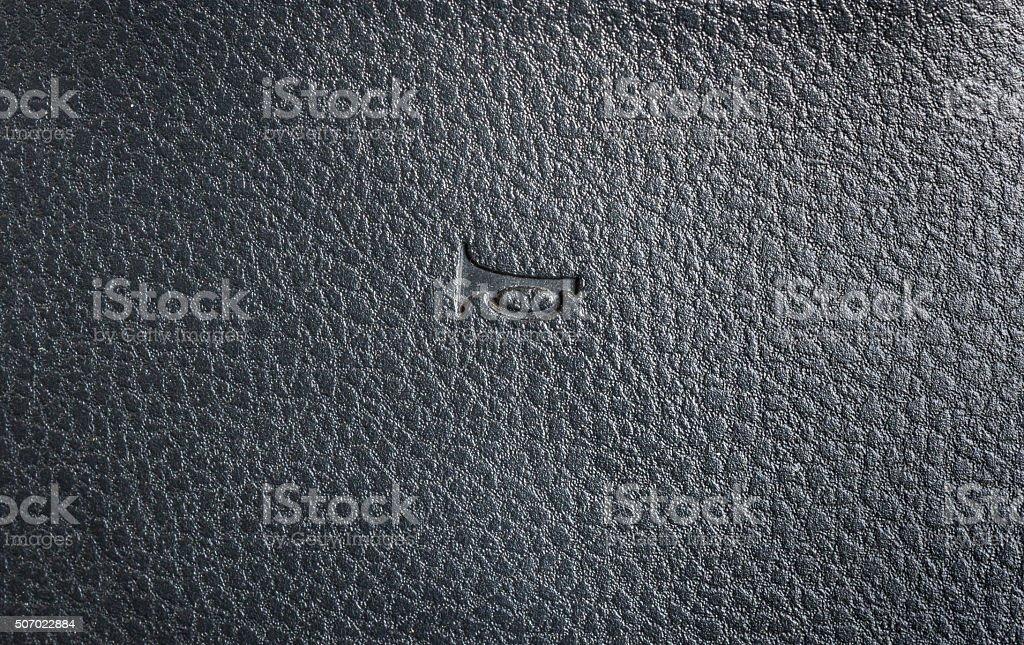 horn symbol on steering wheel stock photo