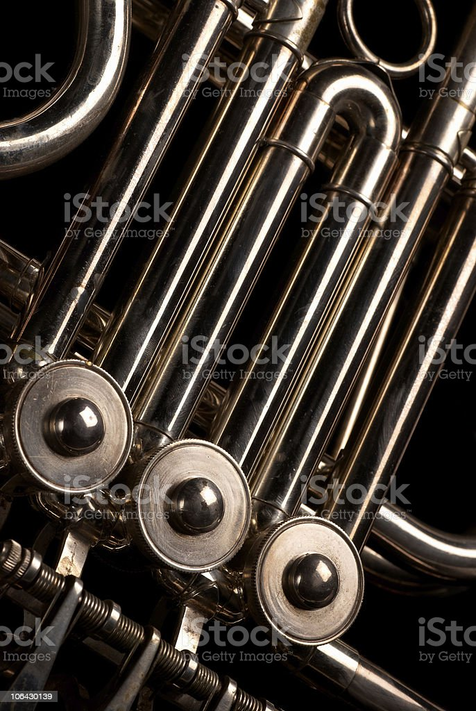 Horn tubes royalty-free stock photo