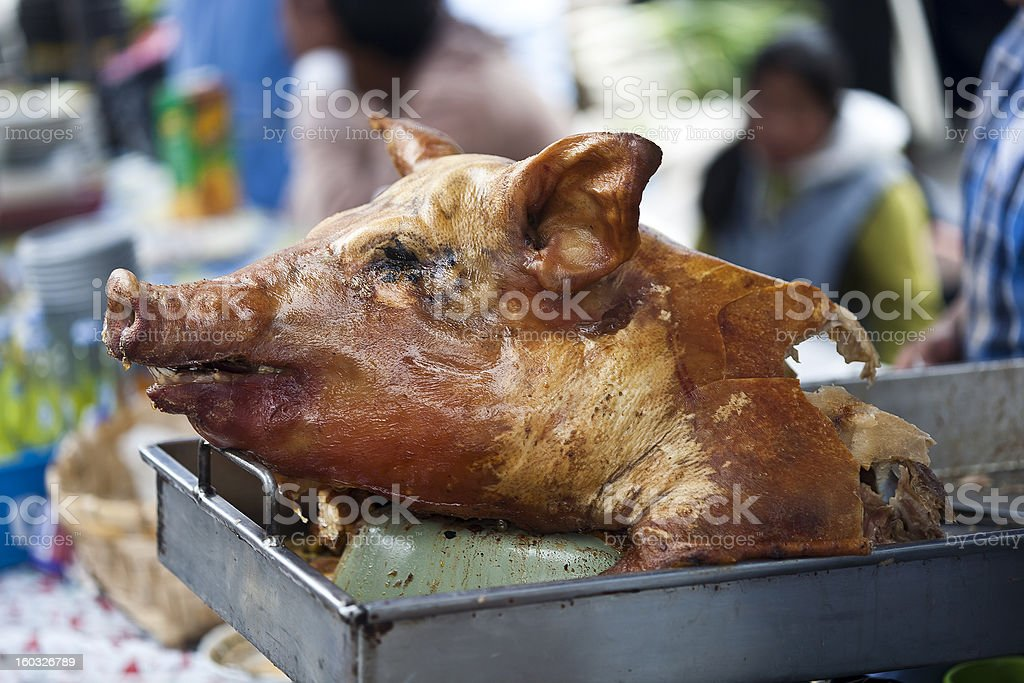 Hornado Or Roasted Whole Pig From Ecuador royalty-free stock photo