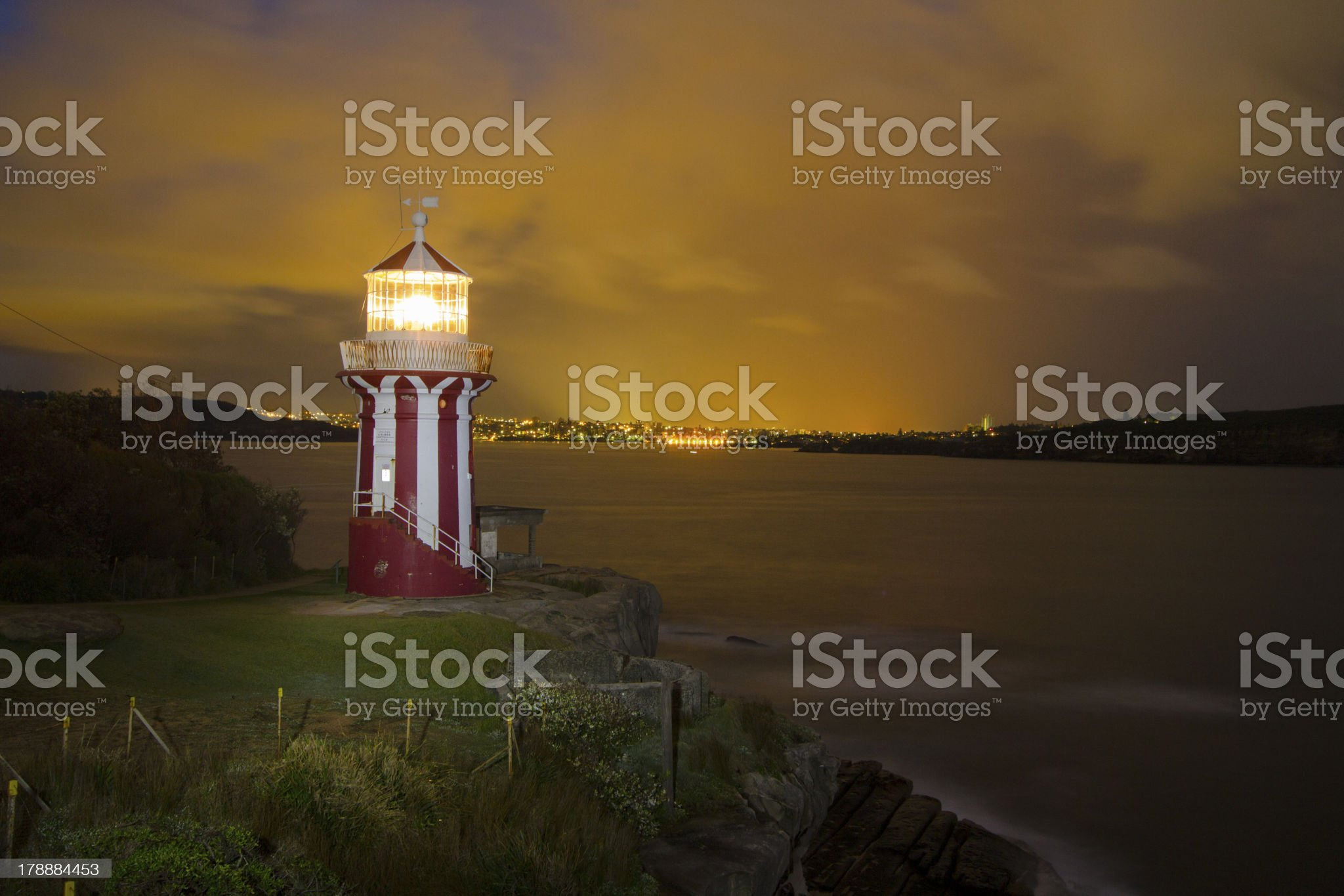 Hornby Lighthouse at Dawn royalty-free stock photo