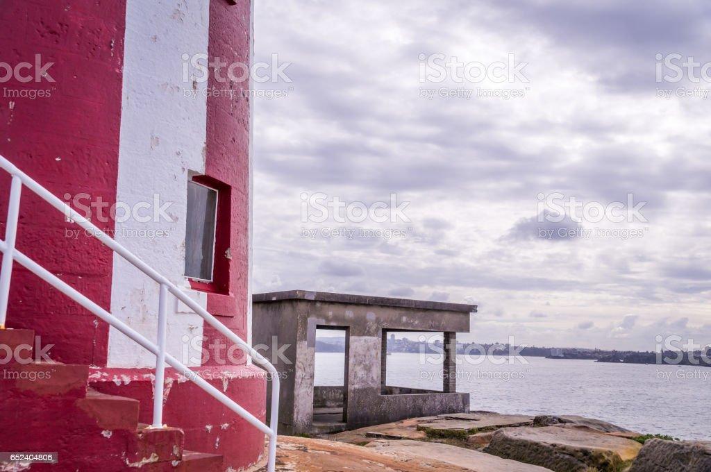 Hornby Lighthouse at South Head Sydney, Australia stock photo