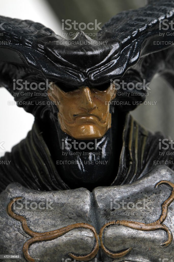 Horned Man stock photo