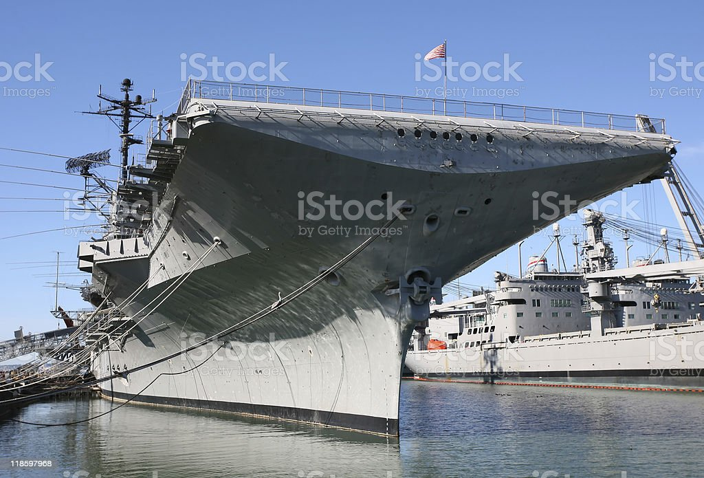 USS Hornet - Aircraft Carrier stock photo