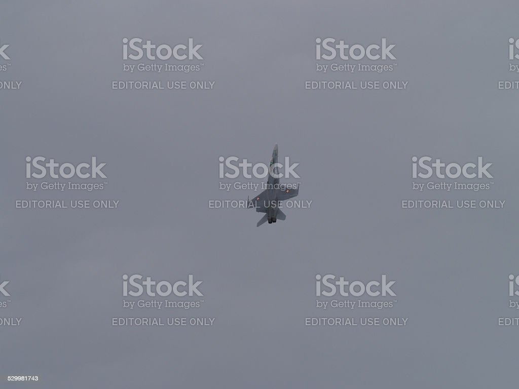 F/A-18 Hornet fighter jet from the swiss air force stock photo